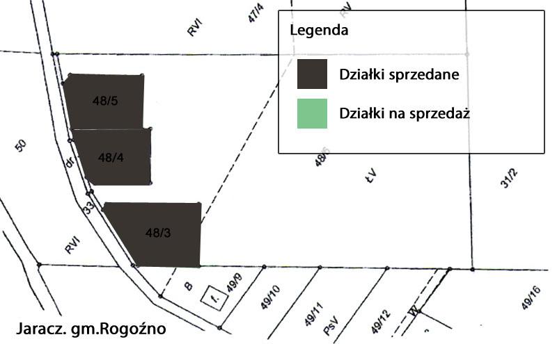 Działki budowlane Grunty Jaracz